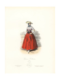 Woman Gardener from Holland, 1804 Giclee Print by Hippolyte Pauquet