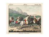 Arab Military Exercises: Mounted Cavalry Charging Giclee Print
