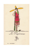Woman in Mexican Fancy Dress Costume, La Mexicaine Giclee Print