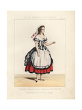 Waiting Woman in Costume of the Restoration, 17th Century Giclee Print by Thomas Hailes Lacy