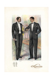 Men in Smoking and Formal Wear at a Chic Party from the 1920s Giclee Print by W.A. Richards