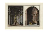 Interior of the Roman Baths, Showing Vaulted Room with Fountain Giclee Print by Robert von Spalart