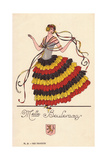 Woman in Fancy Dress Costume as Mademoiselle Beulemans Giclee Print