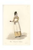 Waitress, 19th Century, in Long Dress with Lace Collar Giclee Print by Louis-Marie Lante