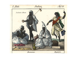 Indian Monk, Two Brahmin and Temple Dancer Giclee Print