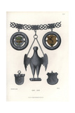 Silver Chain with Eagle Amulet, Coats of Arms, and Shields Giclee Print by Jakob Heinrich Hefner-Alteneck