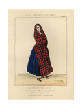 Scottish Girl Wearing the Sinclair Tartan, 19th Century Giclee Print by Thomas Hailes Lacy
