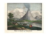 Koryaksky Volcano on Avacha Bay in Kamchatka Giclee Print by R. Weibezahl