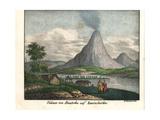 Koryaksky Volcano on Avacha Bay in Kamchatka Giclee Print by R. Weibezahl