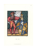 Swiss Costume of a Knight with Heraldic Shield, 1510-1550 Giclee Print by Jakob Heinrich Hefner-Alteneck