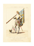 Costume of Joan of Arc with Helmet and Standard, 1431 Giclee Print by Thomas Hailes Lacy