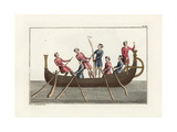Anglo Saxon Ship Giclee Print by Robert von Spalart