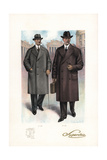 Men in Raglan and Travel Coats, 1920s Giclee Print by W.A. Richards