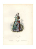 Moghul Woman, 17th Century, after Niccolao Manucci Giclee Print by Polydor Pauquet