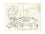 Orrery Built by British Astronomer William Pearson Giclee Print by J. Farey