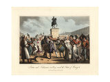 Porters and Fishwomen Revelling around the Statue of Henri IV Giclee Print by Victor Auver