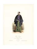 Japanese Officer, Town Costume, Tokyo, 1868 Giclee Print by Polydor Pauquet
