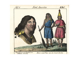 Costumes of the Nuu-Chah-Nulth People of Nootka Island, Canada Giclee Print