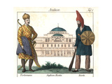 Turkoman Soldier with Sword and a Kurd Soldier with Club Giclee Print