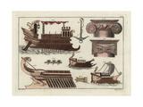 Greek Galleys Giclee Print by Robert von Spalart