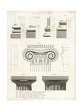 Attic, Doric and Ionic Features from Greek Architecture Giclee Print by Wilson Lowry