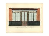 Shopfront to Jollivet's Paper Store, Rue De Bussi, Paris, Circa 1800 Giclee Print by Hector-Martin Lefuel