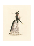 French Woman Wearing the Fashion of April 1793 Giclee Print by Auguste Etienne Guillaumot