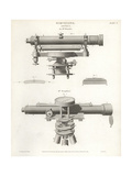 Surveying Levels or Theodolites by Ramsden and Troughton Giclee Print by J. Farey