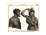 Extinct Palawa or Palervar Aborigines, Tasmania, Australia Giclee Print