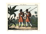 Soldiers of Linhares, Brazil, in Uniform Giclee Print
