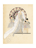 Woman in Couture Wedding Dress and Veil from the 1920s Giclee Print