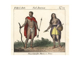 Tattooed Natives of Tierra Del Fuego, South America Giclee Print