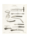 Surgical Equipment for a Lithotomy Giclee Print by J. Farey
