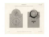 New Dial Work of a Small Spring Clock Giclee Print by J. Farey