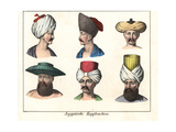 Turbans and Other Headdresses of Egyptian Men Giclee Print