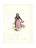 Florist of Hamburg, Germany, 1808 Giclee Print by Polydor Pauquet