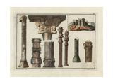 Persian Columns and Capitals, Inset of Building at Naxi-Rustan Giclee Print by Robert von Spalart