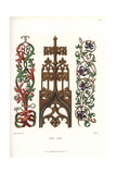 Gothic Ornament and Scrollwork of the Late 15th, Early 16th Century Stampa giclée di Jakob Heinrich Hefner-Alteneck