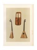 Ancient Welsh Crwth and Russian Balalaika or Triangular Guitar Giclee Print by Alfred James Hipkins