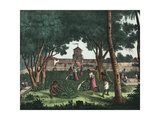 Chamorro Natives Working in the Gardens of Agagna, Guam Giclee Print