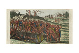 Funeral of an Inca King, Peru Giclee Print