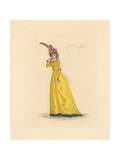 French Woman Wearing the Fashion of January 1792 Giclee Print by Auguste Etienne Guillaumot