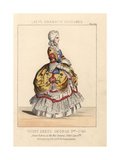 Queen Victoria in 18th Century Court Dress at Her Bal Costume Giclee Print by Thomas Hailes Lacy
