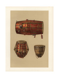 Indian Percussion Instruments: Tabla, M'Ridang and Nahabat Giclee Print by Alfred James Hipkins