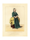Highland Lady of Scotland in the Tartan of Clan Lamond, 1760 Giclee Print by Thomas Hailes Lacy