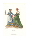 Swiss Women's Costumes from 1510-1550 Giclee Print by Jakob Heinrich Hefner-Alteneck