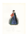 Bourgeois Woman from Cracow, Poland, 17th Century Giclee Print by Polydor Pauquet