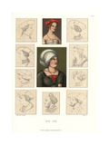 Hats and Bonnets of the Early 16th Century Giclee Print by Jakob Heinrich Hefner-Alteneck