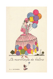 Woman in the Balloon Seller Costume Giclee Print