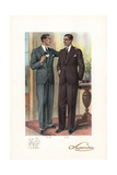Fashionable Men in Three-Piece Suits, 1920s Giclee Print by W.A. Richards